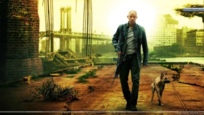 Will Smith With Dog In I Am Legend HD Wallpaper