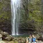 A great portrait spot at the base of Hanakapi'ai Falls
