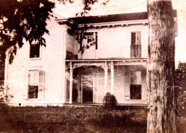 The original Hill house in Henry County, Kentucky on the family farm. Clarissa (Holloway) Hill lived their with her son, Horace William Hill. The oldest grandchild of Horace William Hill, Martha Irene (Montfort) Wilborn was born in the house.