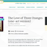 The Love of Three Oranges (one-act version) is available for perusal by request