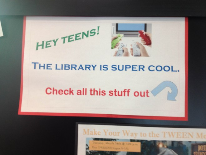 """I think this is cute. I imagine the librarians in their meeting, saying, """"We need something edgy, something that speaks to the teens of today!"""""""