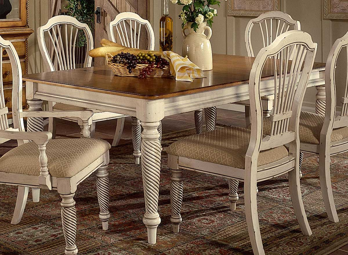 Hillsdale Wilshire Rectangular Dining Table Antique White HD p white kitchen tables Hillsdale Wilshire Rectangular Dining Table Antique White