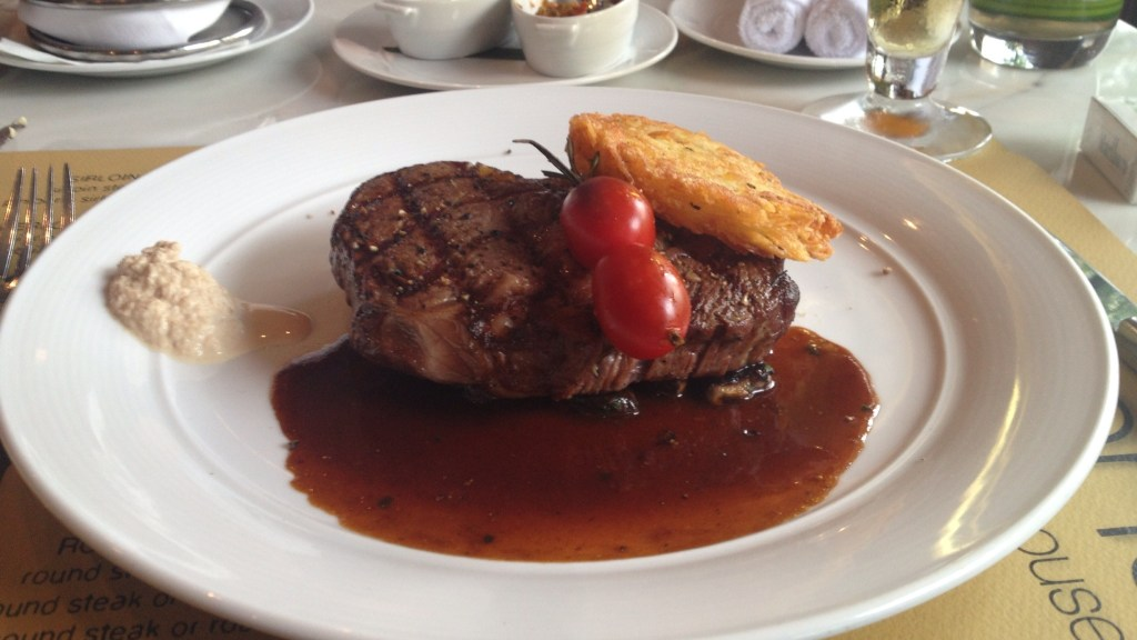 Steak in Jacksons Steakhouse