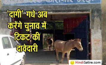 Donkey in jail, donkey released from jail, satire, funny news, weird news, it's not funny, अजब-गजब न्यूज, गधों पर व्यंग्य, satire
