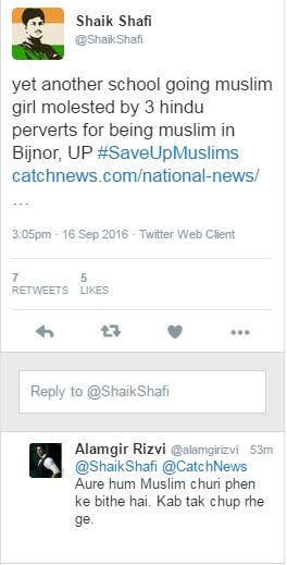 Muslim reactions on Twitter