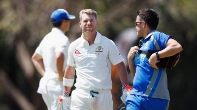 David Warner downed by Josh Hazlewood bouncer in Australia ...