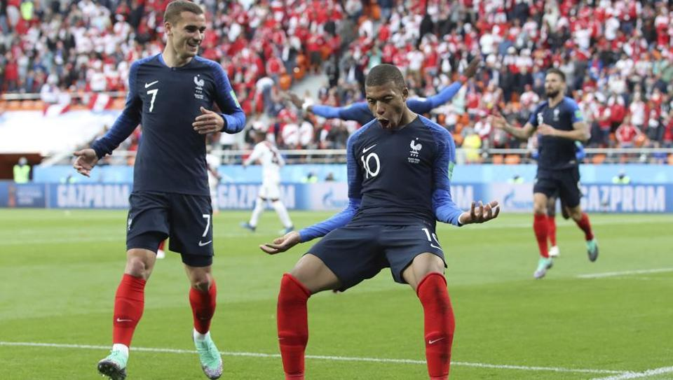 Kylian Mbappe makes history as France battle into FIFA World Cup     Kylian Mbappe FIFA World Cup 2018 FIFA World Cup