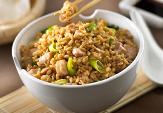 Hinode rice: Brown Rice and Ginger Chicken Stir Fry Recipe