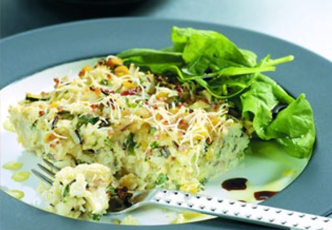 Hinode rice: Wild Rice and Vegetable Frittata Recipe