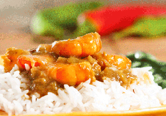 Hinode Rice: Tikka Masala - shrimp