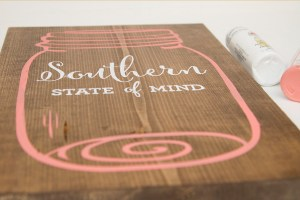 Southern State of Mind Mason Jar free printable board top