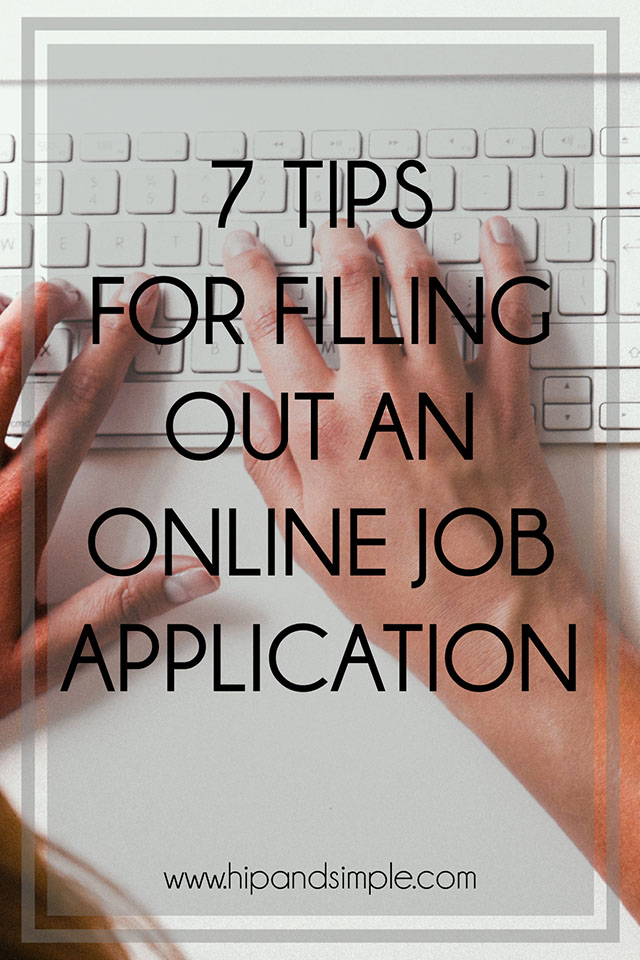 Great tips for filling out an online job application to get the best offer possible.