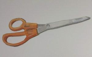 pencil drawing of scissors