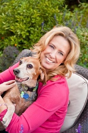 Teresa Rhyne and Seamus the beagle