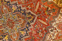 close-up of oriental rug