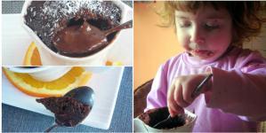 Chocolate, Orange & Olive Oil Mini Lava Cake