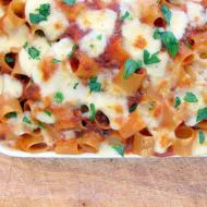 Pressure Cooker Pasta Casserole! A Cheesy, Meaty, Mess! (Mezzemaniche Pasticciate)