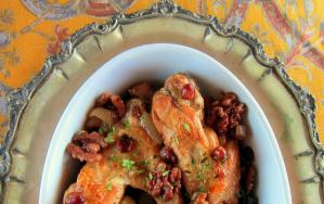 Cranberry Braised Turkey Wings - Pressure Cooker Recipe