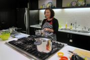 Laura Pazzaglia demonstrates pressure cookers
