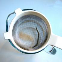 Prepare fine mesh filter