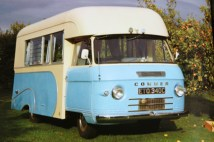 page in My Cool Campervan featuring a blue Commer