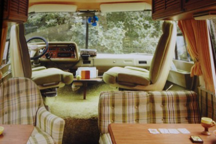 page in My Cool Campervan featuring the interior of a GMC motorhome