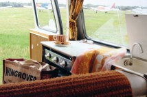 page in My Cool Campervan featuring the interior of a vintage Morris Marina campervan