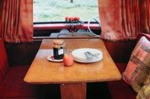 page in My Cool Campervan featuring the dining table in a vintage campervan