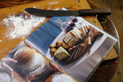 "image of bread & cheese from the ""How to Make Bread"" cookery book"