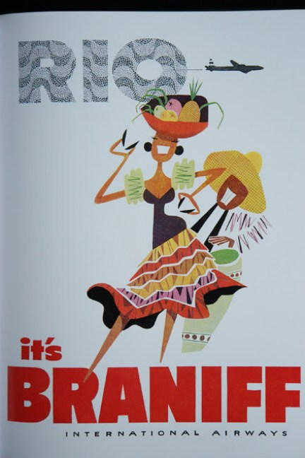 1950s advert for Braniff Airways to Rio