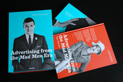 "the two volumes of ""Advertising from the Mad Man Era"""