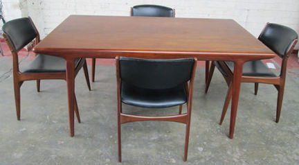 Vintage Danish table & chairs for sale on eBay for Charity in aid of St Vincent Support Centre