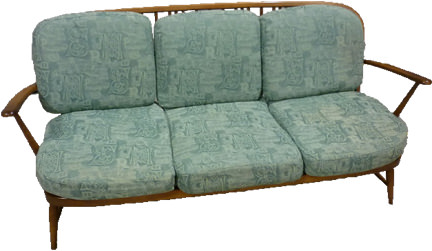 vintage Ercol sofa for sale on eBay for Charity in support of St Luke's Cheshire Hospice