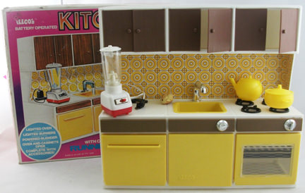 vintage child's kitchen produced by Illco in the 1970s