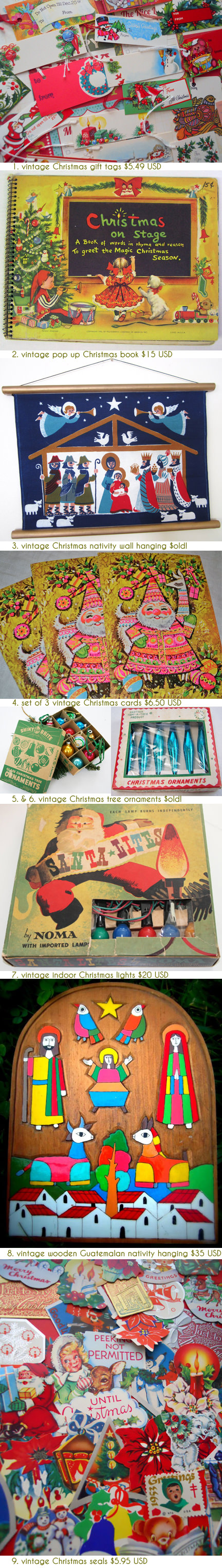 selection of festive Christmas items available on Etsy