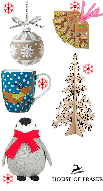 selection of Christmas items from House of Fraser