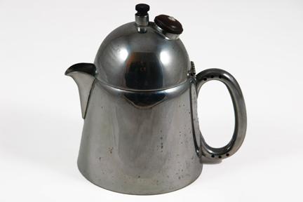 vintage industrial designed steel coffee percolator