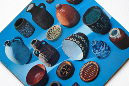 page from a vintage craft booklet showing collection handmade pots