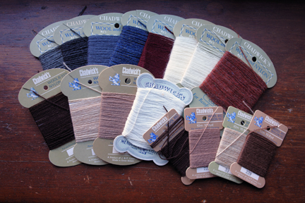 collection of vintage Chadwick's darning wools