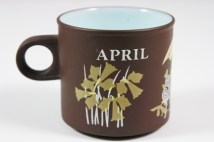 vintage &quot;April&quot; mug produced by Hornsea Pottery