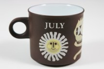 vintage &quot;July&quot; mug produced by Hornsea Pottery