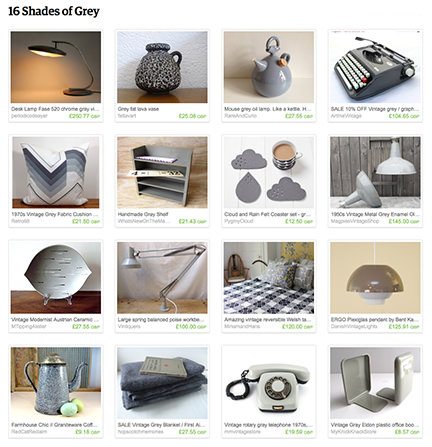 '16 Shades of Grey' Etsy List by H is for Home