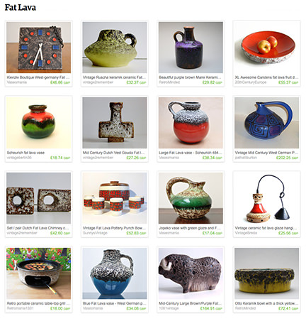 'Fat Lava' Etsy List from H is for Home