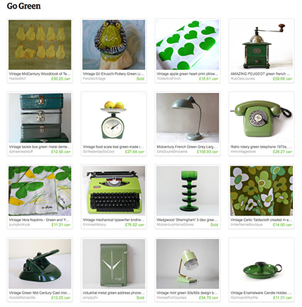 'Go Green' Etsy List by H is for Home