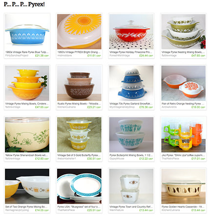 H is for Home Pyrex Etsy List