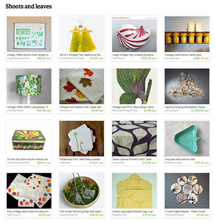 H is for Home 'Shoots and leaves' Etsy List