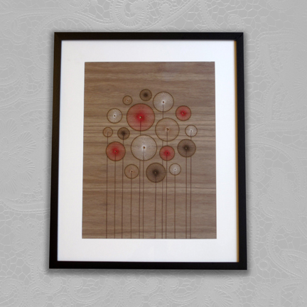 framed threadwork designed & made by Jane Blease