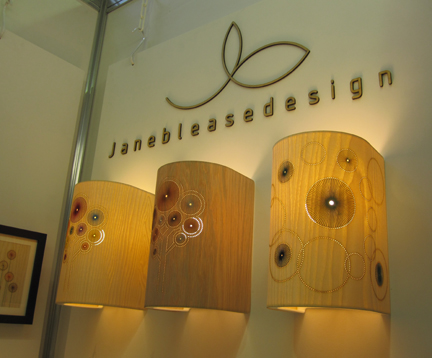 Jane Blease sign above her stand at the British Craft Tade Fair 2011