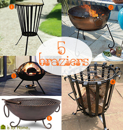 selection of 5 braziers