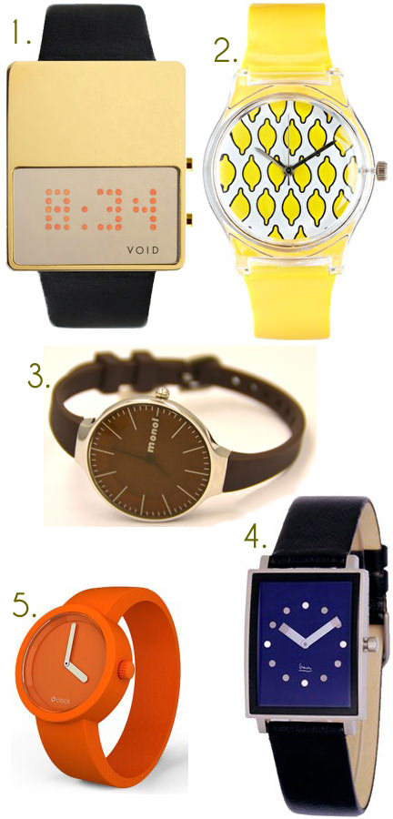 selection of wristwatches